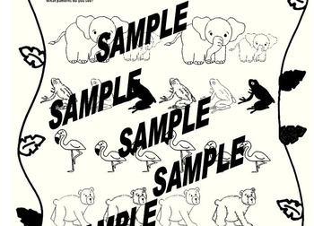 Identifying Patterns ~ Zoo Animal Theme