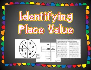 Identifying Place Value Center - Hundred Thousands