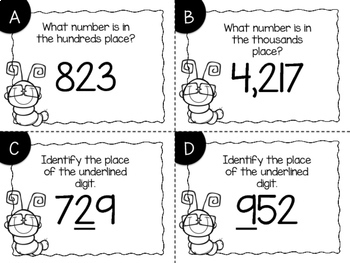 Identifying Place Value Task Cards {Digital}