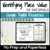 Identifying Place Value of Decimals Digital Activities