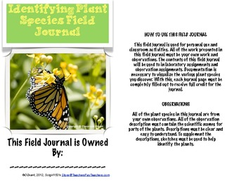 Identifying Plant Species Field Journal