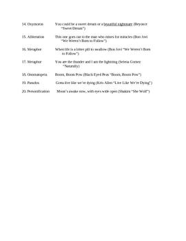 Identifying Poetic Devices in Song Lyrics