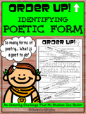 Identifying Poetic Forms - Order Up!