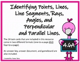 Identifying Points, Lines,  Line Segments, Rays,  Angles, Etc. (TEKS 4.6A)