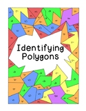 Identifying Polygons Coloring Activity Math Geometry PDF Printable Bookmarks