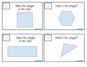 Identifying Polygons Task Cards