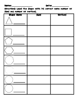 identifying polygons worksheet by saddle up for 2nd grade tpt. Black Bedroom Furniture Sets. Home Design Ideas