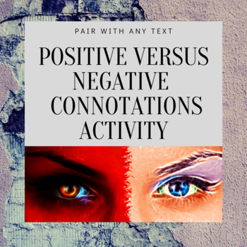 Identifying Positive versus Negative Connotations Activity