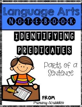 Identifying Predicates Language Arts Notebook
