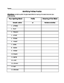 Identifying Prefixes Practice