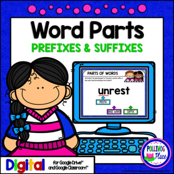Identifying Prefixes and Suffixes Activity for Google Drive and Google Classroom