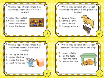 Identifying Prepositional Phrases - ELA Task Cards