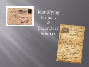 Identifying Primary & Secondary Sources