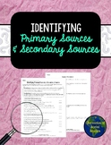 Identifying Primary Sources & Secondary Sources