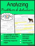 Identifying Problem and Solution / Plot Reading Passages with Questions