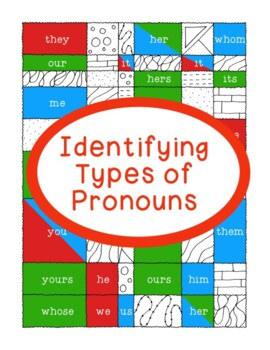 Identifying Pronouns Nominative Objective Possessive Printable Activity Grammar
