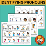 Identifying Pronouns with Three Visual Answer Choices: He,