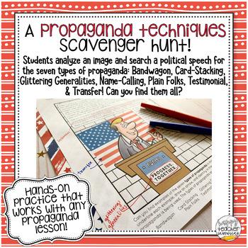 Identifying Propaganda Techniques | Worksheet for Civics & American Government