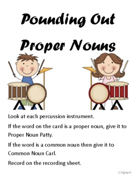 Identifying Proper Nouns music themed