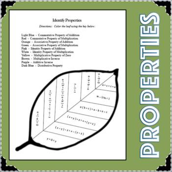 Identifying Properties Algebra Student Activity Center Math Concept Game
