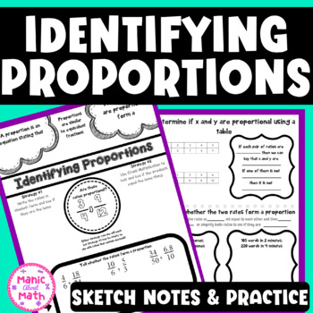 Identifying Proportions Sketch Notes