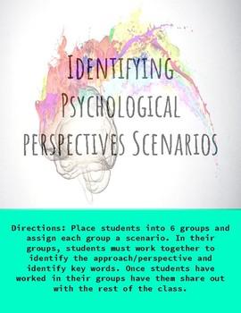 Identifying Psychological Perspectives Scenarios