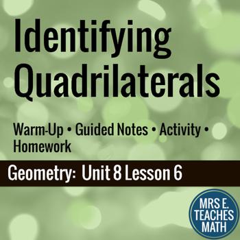 Identifying Quadrilaterals Lesson