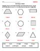 Identifying Quadrilaterals/Quadrangles and Naming 2D Shapes Worksheet