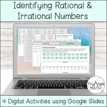 Identifying Rational And Irrational Numbers Worksheets