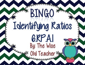 Identifying Ratios Bingo Game PPT with Blank Bingo Card 6.RP.A.1