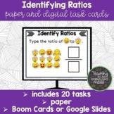 Identifying Ratios Digital and Paper Task Cards | Boom Car