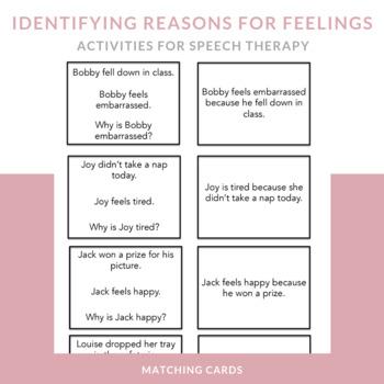 Identifying Reasons for Feelings