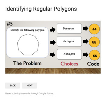 Identifying Regular Polygons  – Bad Dog Breakout for Google Classroom!