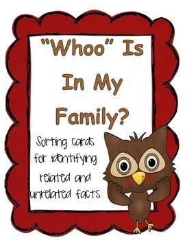 Identifying Related and Unrelated Facts / Relating Additio