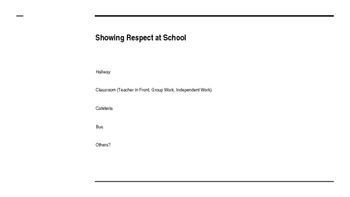 Identifying Respectful Behaviors