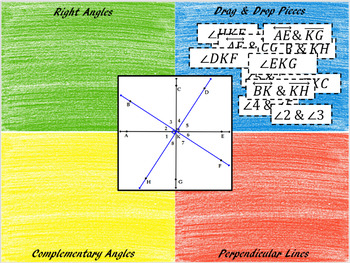 Identifying Right Angles& Complementary Angles~Google Drive Interactive Activity