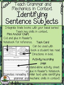 Sentence Subjects