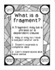 Identifying Sentences Fragments Run-ons Printable Activity Writing