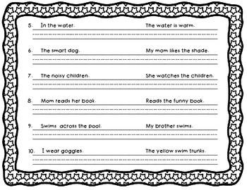 Identifying Sentences (worksheet)
