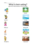 Find the Setting for the Character Kindergarten