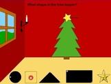 SMARTboard Identifying Shapes: Christmas Theme