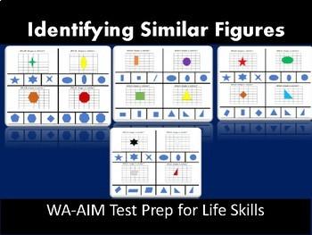 Identifying Similar Figures: 8th Grade WA-AIM Test Prep
