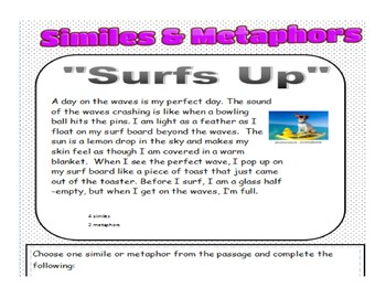 Identifying Similes/Metaphors in Text