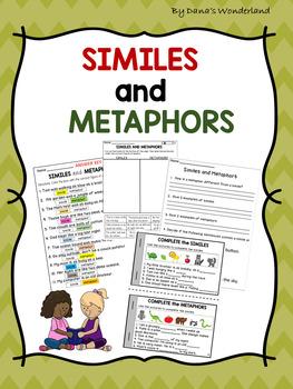 Similes and Metaphors Sort, Worksheets, and Book