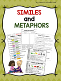 Similes and Metaphors Worksheets and Workbook