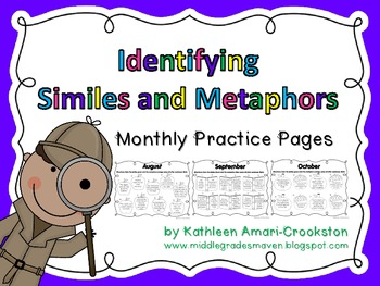 Identifying Similes and Metaphors: Monthly Practice