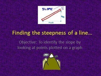 8FA3 Identifying Slope and Writing Linear Equations