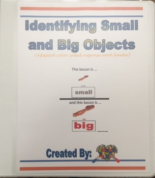 Identifying Small and Big Objects Work Binder
