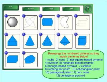 Identifying Solids and Nets - Interactive Smartboard