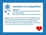 Identifying Solutions to Inequalities Task Cards/ Walk Around